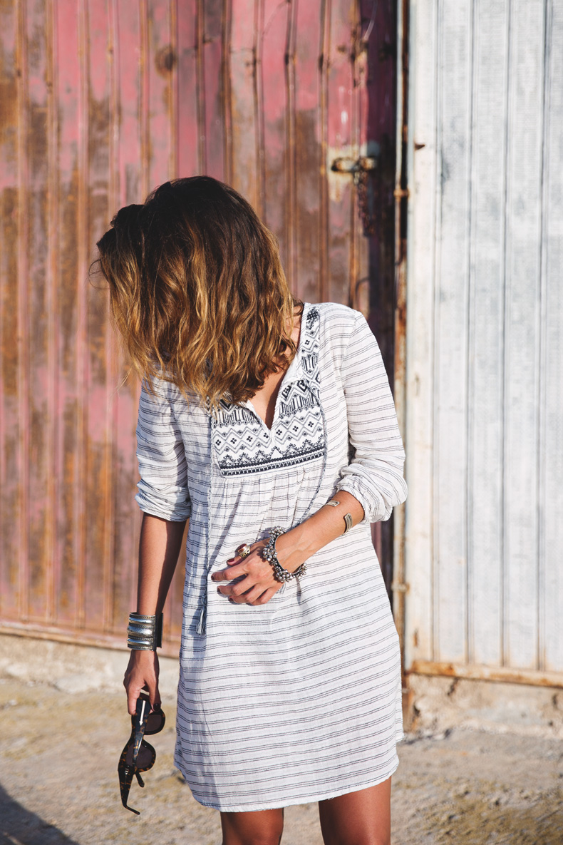Boho_Dress-Summer-Oysho-Wedges-Silver-Outfit-Street_Style-1