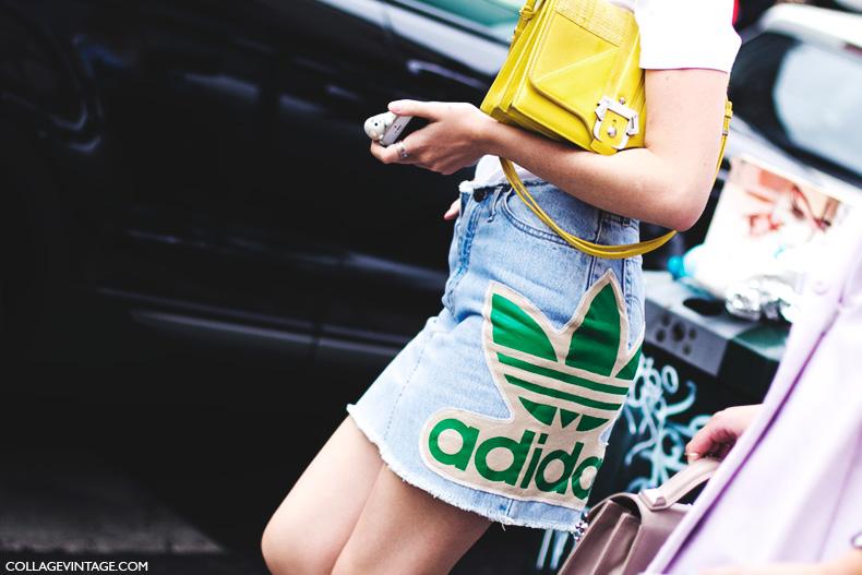 Milan_Fashion_Week_Spring_Summer_15-MFW-Street_Style-Denim_Skirt-Adidas-