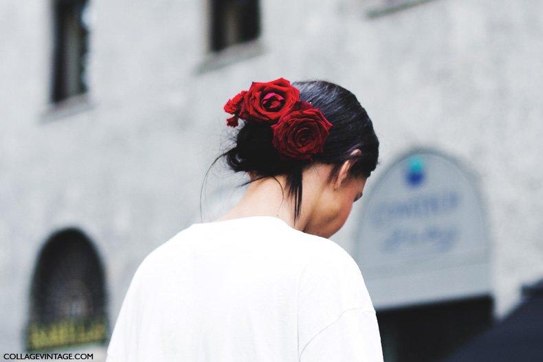 Milan_Fashion_Week_Spring_Summer_15-MFW-Street_Style-Hairdo_Dolce_Gabbana-Flowers-2