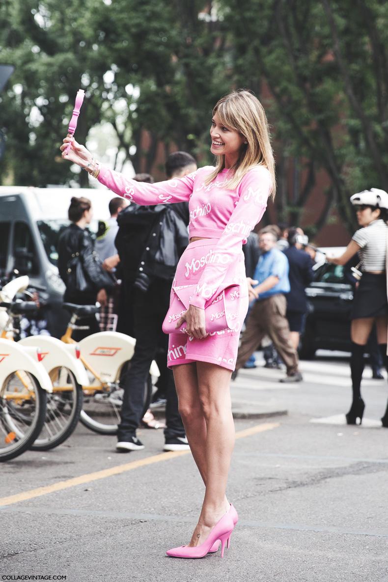 Milan_Fashion_Week_Spring_Summer_15-MFW-Street_Style-Helena_bordon-Moschino_Barbie-1