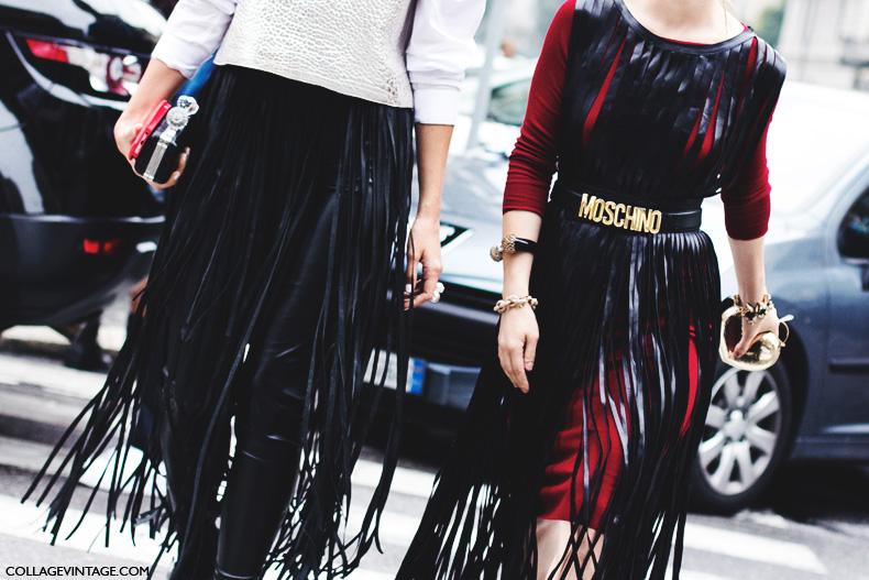 Milan_Fashion_Week_Spring_Summer_15-MFW-Street_Style-Leather_Fringes-Moschino_Belt-