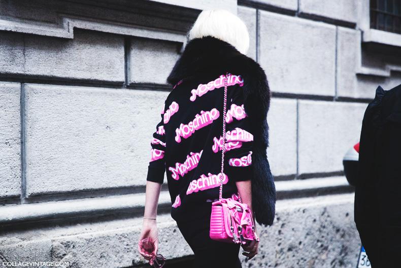 Milan_Fashion_Week_Spring_Summer_15-MFW-Street_Style-Moschino_Barbie_SweatShirt-Bag-
