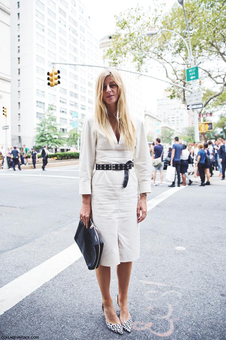 New_York_Fashion_Week_Spring_Summer_15-NYFW-Street_Style-Ada_Kokosar-Belted_Dress-1