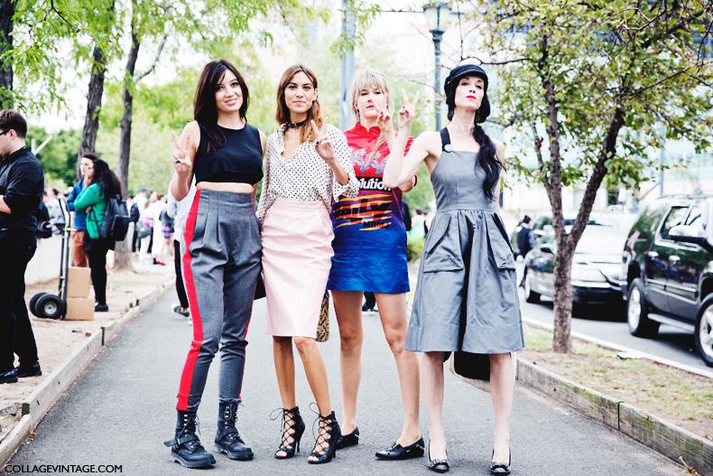 New_York_Fashion_Week_Spring_Summer_15-NYFW-Street_Style-Alexa_Chung-Marc_By_Marc_Jacobs-Pink_Skirt-Dots_Shirt-12