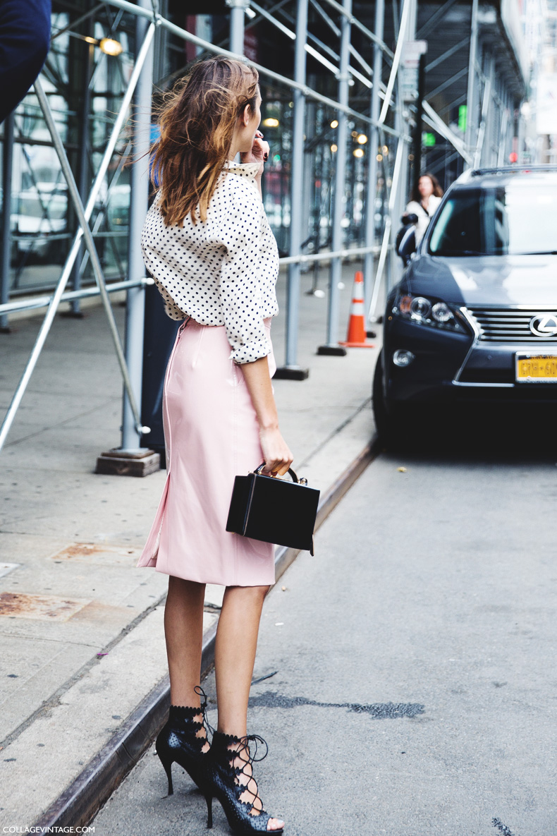 New_York_Fashion_Week_Spring_Summer_15-NYFW-Street_Style-Alexa_Chung-Marc_By_Marc_Jacobs-Pink_Skirt-Dots_Shirt-7