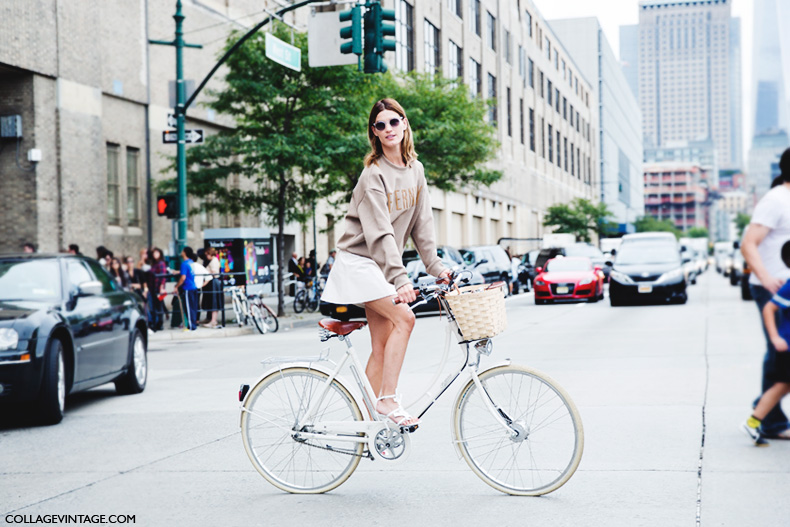 New_York_Fashion_Week_Spring_Summer_15-NYFW-Street_Style-Hanneli_Mustaparta-Bike-White_Skirt-3Sweatshirt-1