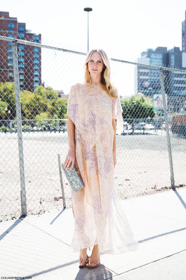 New_York_Fashion_Week_Spring_Summer_15-NYFW-Street_Style-Poppy_Delevingne-Michael_Kors_Dress-2