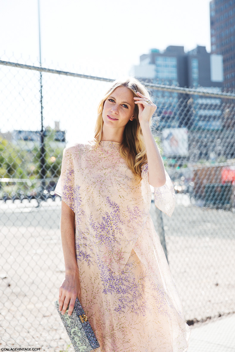New_York_Fashion_Week_Spring_Summer_15-NYFW-Street_Style-Poppy_Delevingne-Michael_Kors_Dress-4