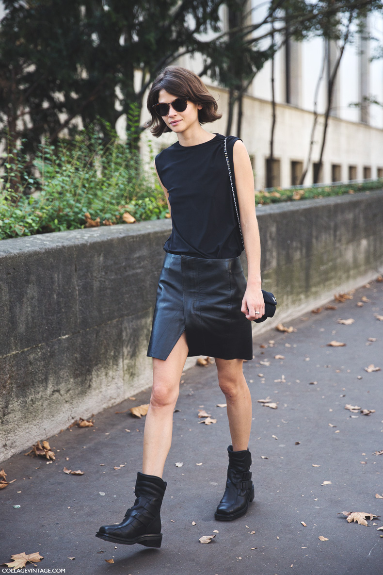 Paris_Fashion_Week_Spring_Summer_15-PFW-Street_Style-Alba_Galocha-Leather_Skirt-1