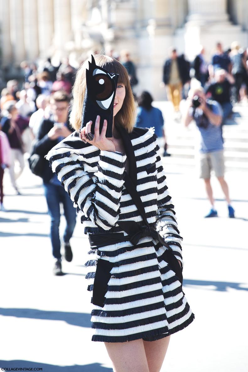 Paris_Fashion_Week_Spring_Summer_15-PFW-Street_Style-Anya_Ziourova-Striped_Blazer-Dress-5