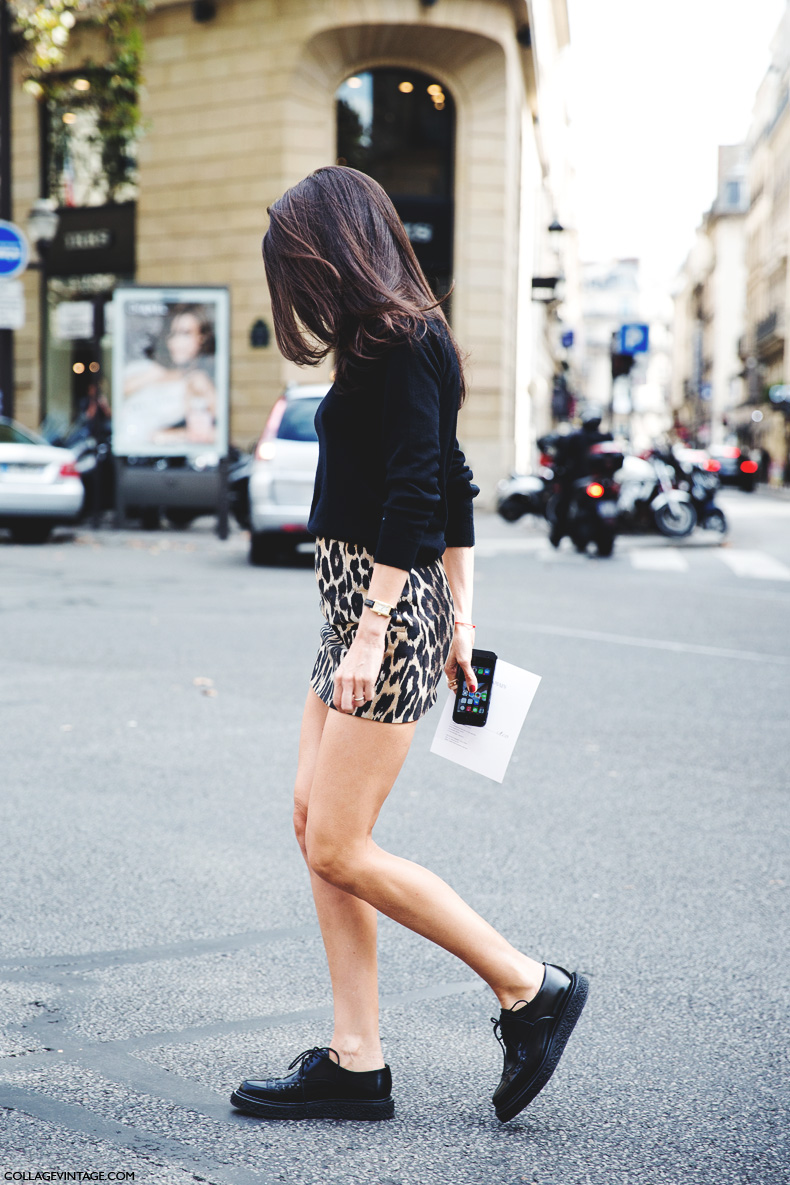 Paris_Fashion_Week_Spring_Summer_15-PFW-Street_Style-Barbara_Martello-Leopard_Mini_Skirt-Oxfords-
