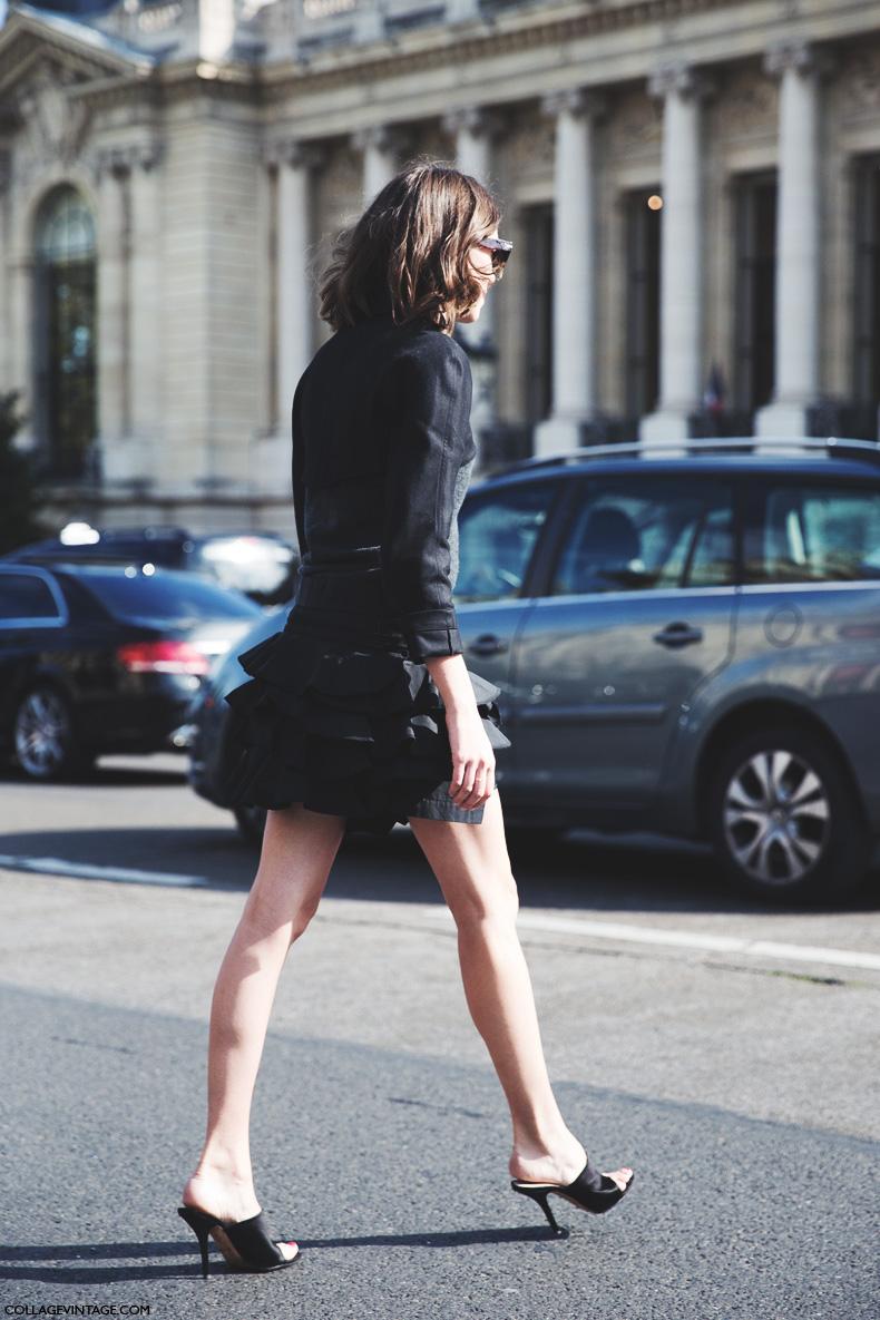 Paris_Fashion_Week_Spring_Summer_15-PFW-Street_Style-Black_outfit-Ruffle_Skirt-