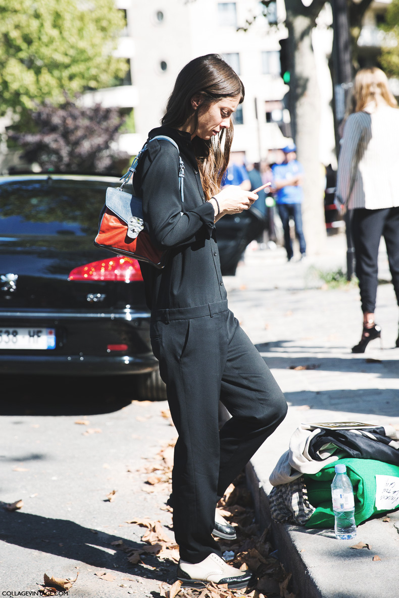 Paris_Fashion_Week_Spring_Summer_15-PFW-Street_Style-Casual-Black_Jumpsuit-