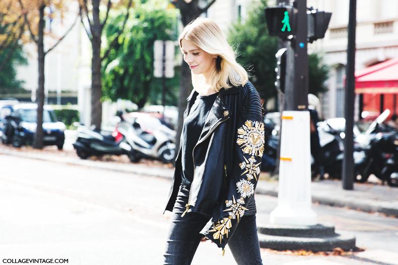 Paris_Fashion_Week_Spring_Summer_15-PFW-Street_Style-Elena_Perminova-Biker_Jacket-Jeans-Flats-5