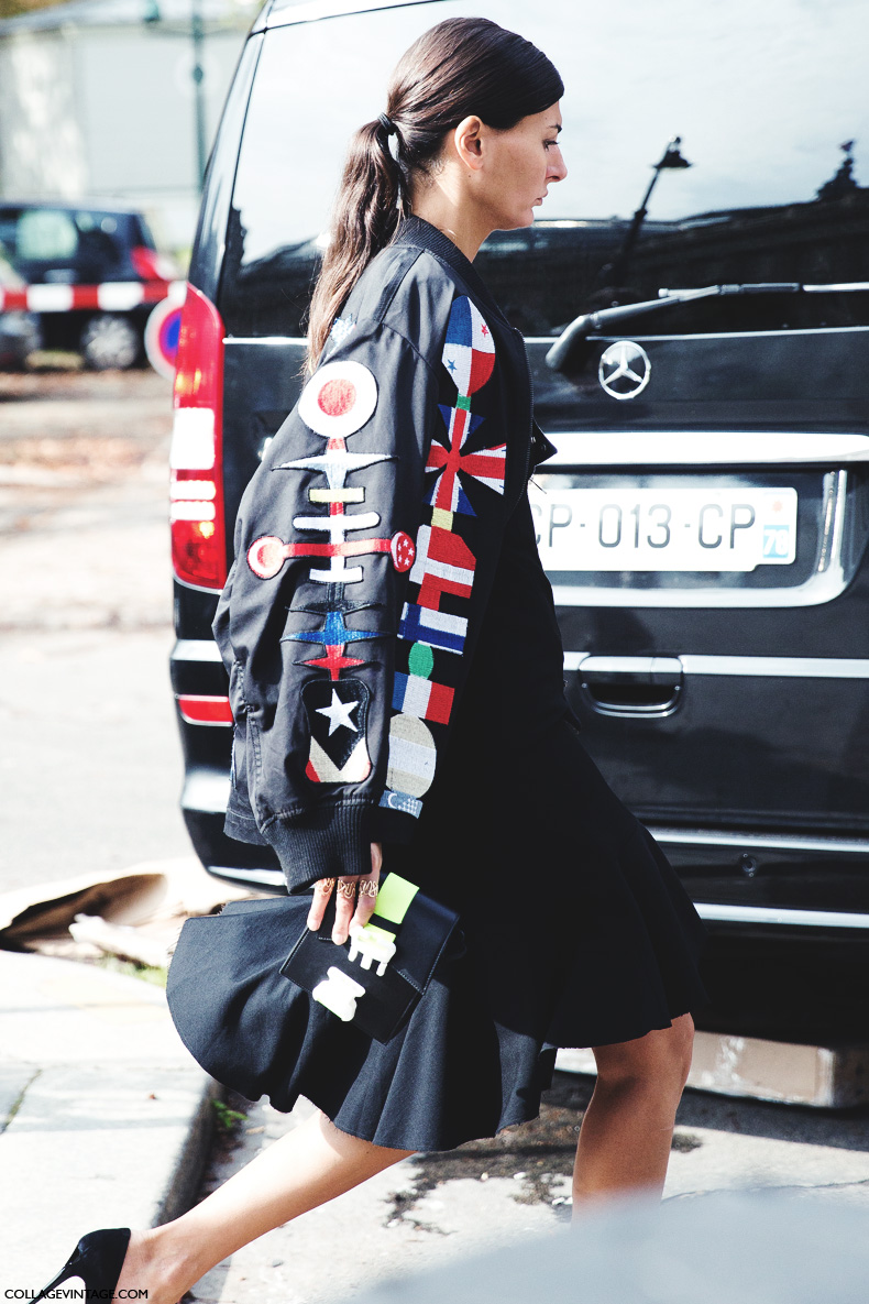 Paris_Fashion_Week_Spring_Summer_15-PFW-Street_Style-Giovanna_Battaglia-Bomber-
