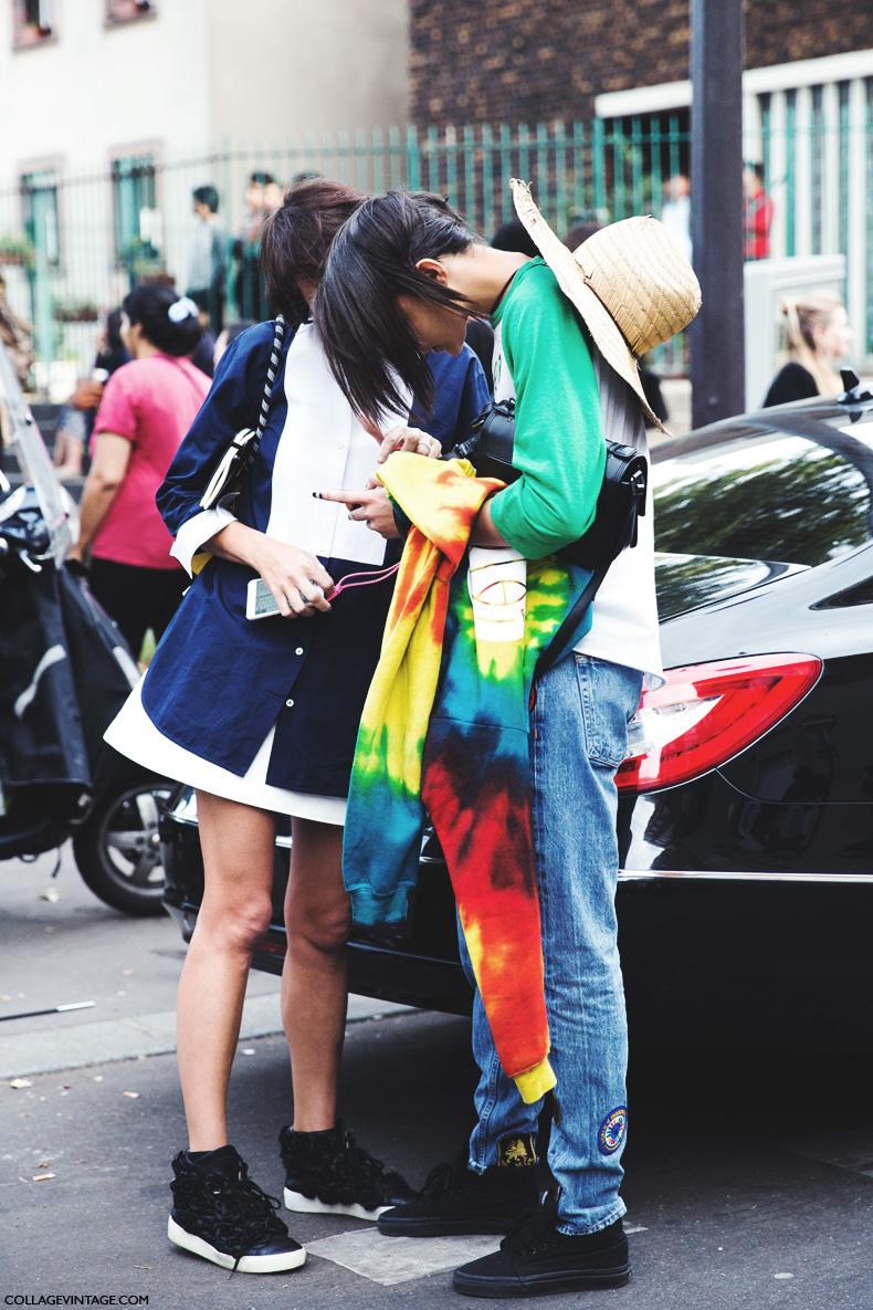 Paris_Fashion_Week_Spring_Summer_15-PFW-Street_Style-Kenzo_Models-1