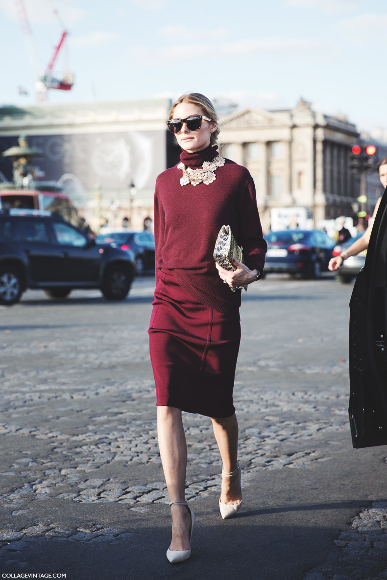 Paris_Fashion_Week_Spring_Summer_15-PFW-Street_Style-Olivia_Palermo-Nina_ricci-Burgundy-Pencil_Skirt-9