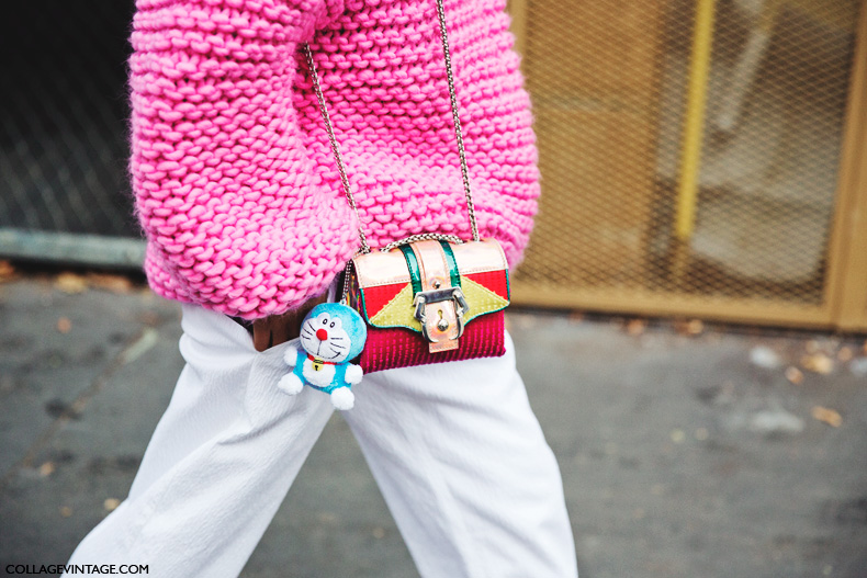 Paris_Fashion_Week_Spring_Summer_15-PFW-Street_Style-Pink_Sweater-White_Trousers-