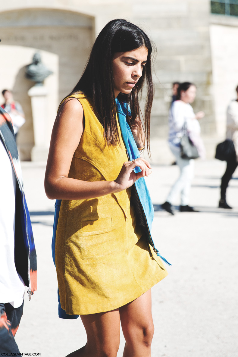 Paris_Fashion_Week_Spring_Summer_15-PFW-Street_Style-Suede_dress-