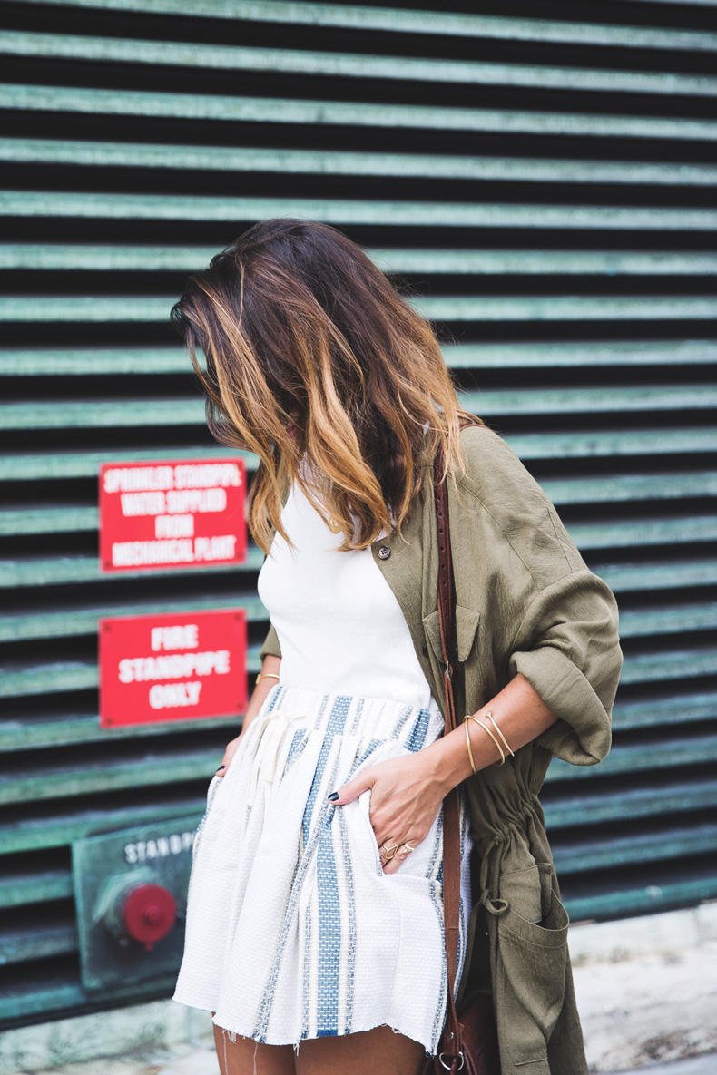 Rebecca_Minkoff_Spring_Summer_15-NYFW-Green_Parka-Striped_Dress-Revolve_Clothing-Green_Sandals-Street_style-Outfit-19