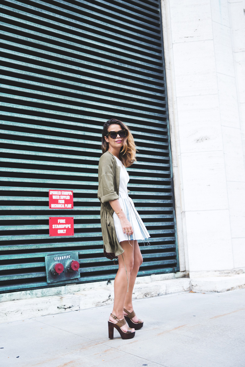 Rebecca_Minkoff_Spring_Summer_15-NYFW-Green_Parka-Striped_Dress-Revolve_Clothing-Green_Sandals-Street_style-Outfit-3
