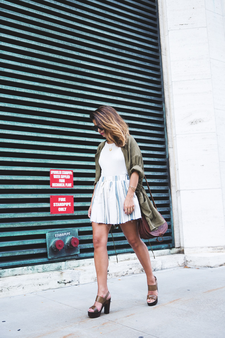 Rebecca_Minkoff_Spring_Summer_15-NYFW-Green_Parka-Striped_Dress-Revolve_Clothing-Green_Sandals-Street_style-Outfit-6