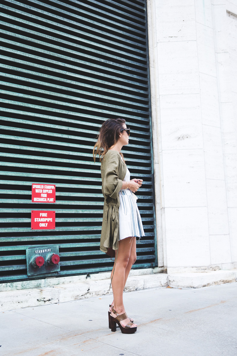 Rebecca_Minkoff_Spring_Summer_15-NYFW-Green_Parka-Striped_Dress-Revolve_Clothing-Green_Sandals-Street_style-Outfit-8