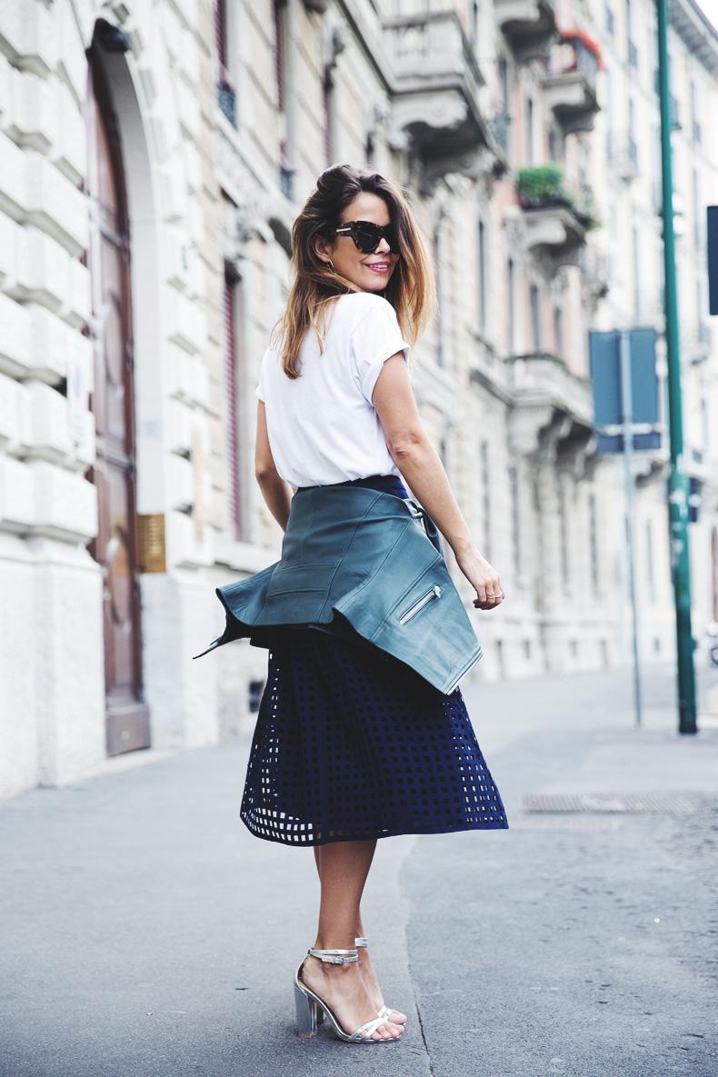 Space_Top-Reiss_Skirt-Midi_Skirt_Trend-Green_Biker-Street_Style-MFW-Milan_Fashion_Week-19