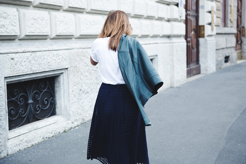 Space_Top-Reiss_Skirt-Midi_Skirt_Trend-Green_Biker-Street_Style-MFW-Milan_Fashion_Week-28