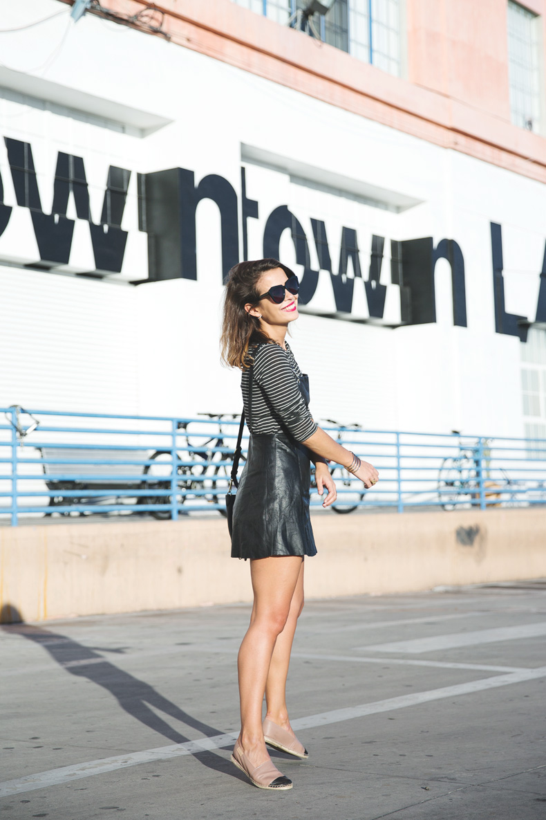Los_Angeles-Travel-California-Leather_Jumpsuit-Striped_Top-Outfit-Street_style-27
