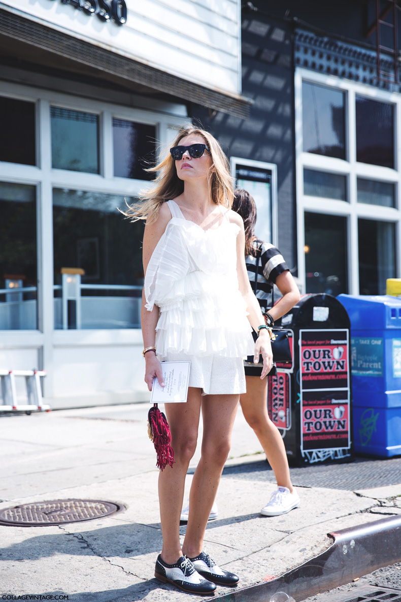 New_York_Fashion_Week_Spring_Summer_15-NYFW-Street_Style-Ruffle_Top-Fringed_Bag-Oxfords-2