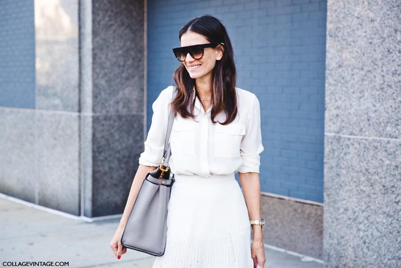 New_York_Fashion_Week_Spring_Summer_15-NYFW-Street_Style-Total_White-Midi_Skirt-Leila_yavari-2