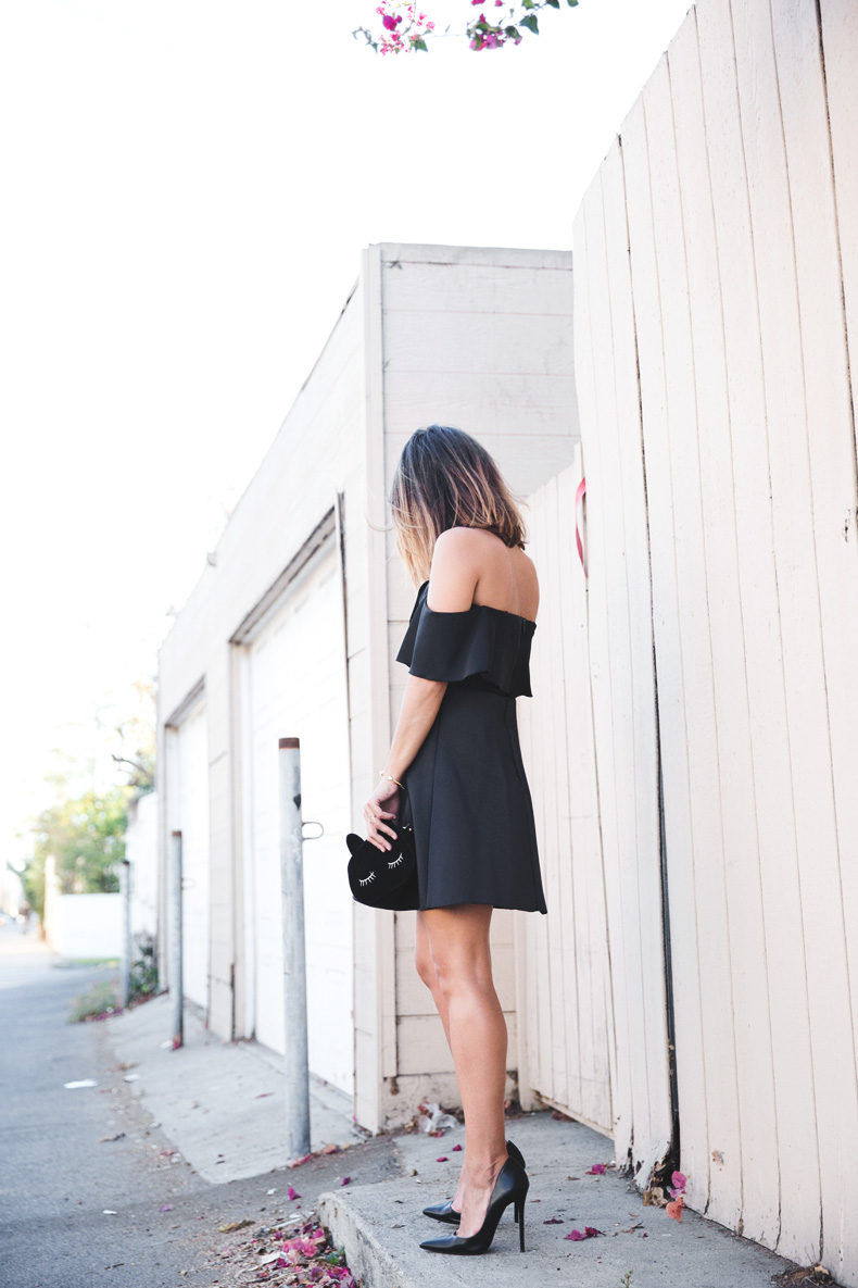 Sandro_Off_Shoulders_Dress-Night-Capsule_Collection-Outfit-Street_Style-LBD-Little_Black_Dress-12