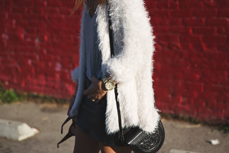 Silver_Lake-Leather_Mini_Skirt-Urban_Outfitters-Fluffy_Jacket-Outfit-Street_Style-Los_Angeles-