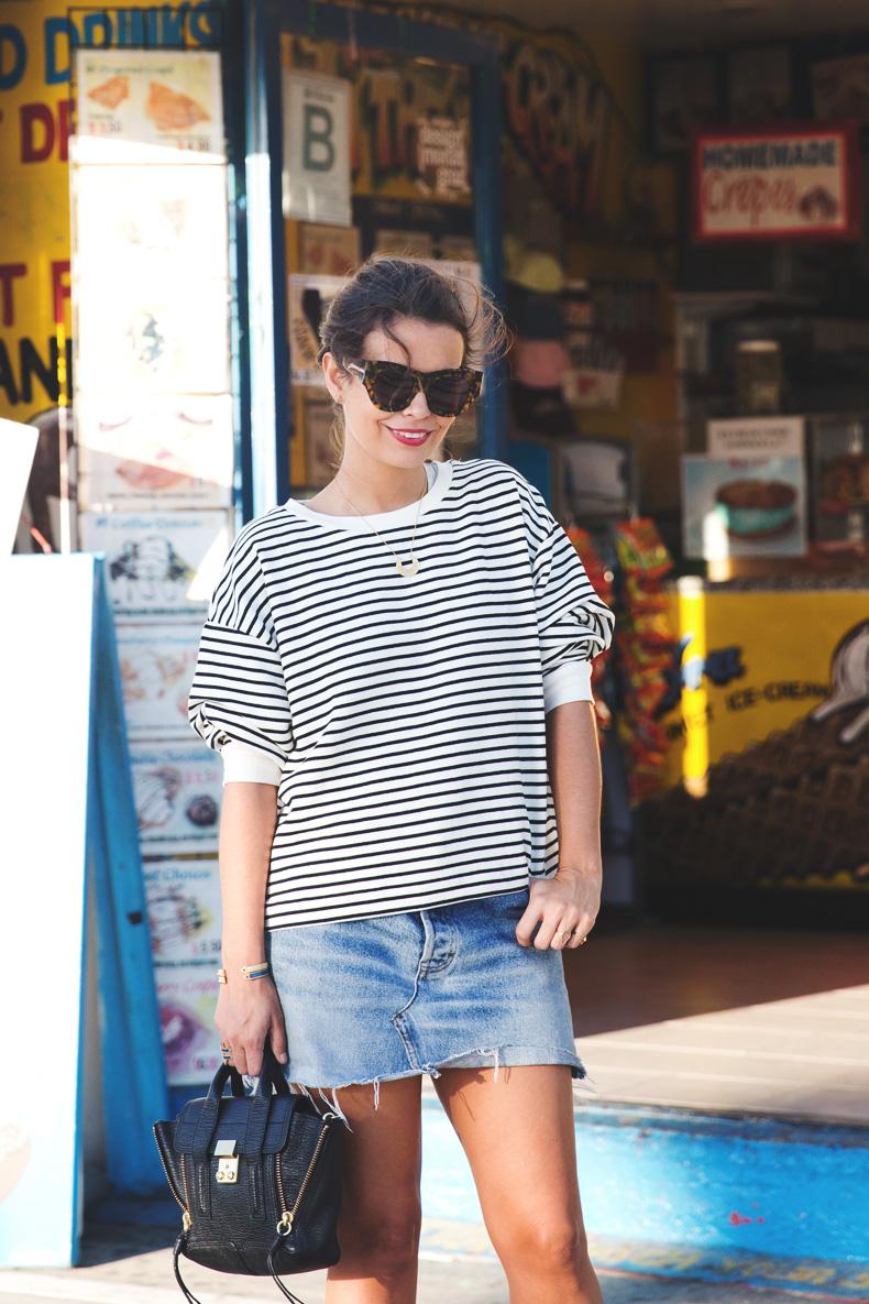Venice_Beach-Striped_SweatShirt-Denim_Skirt-Revolve_Clothing-Outfit-Street_Style-1
