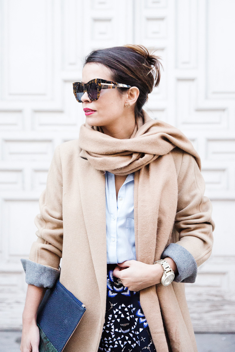 AnhHa-Embroidered_Skirt-Camel_Coat-Blue_Shirt-Outfit-Street_Style-