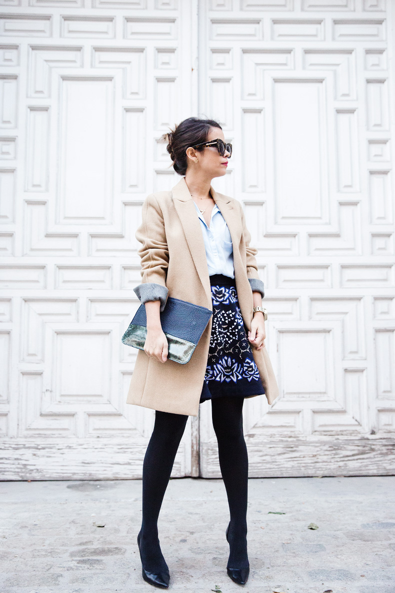 AnhHa-Embroidered_Skirt-Camel_Coat-Blue_Shirt-Outfit-Street_Style-19