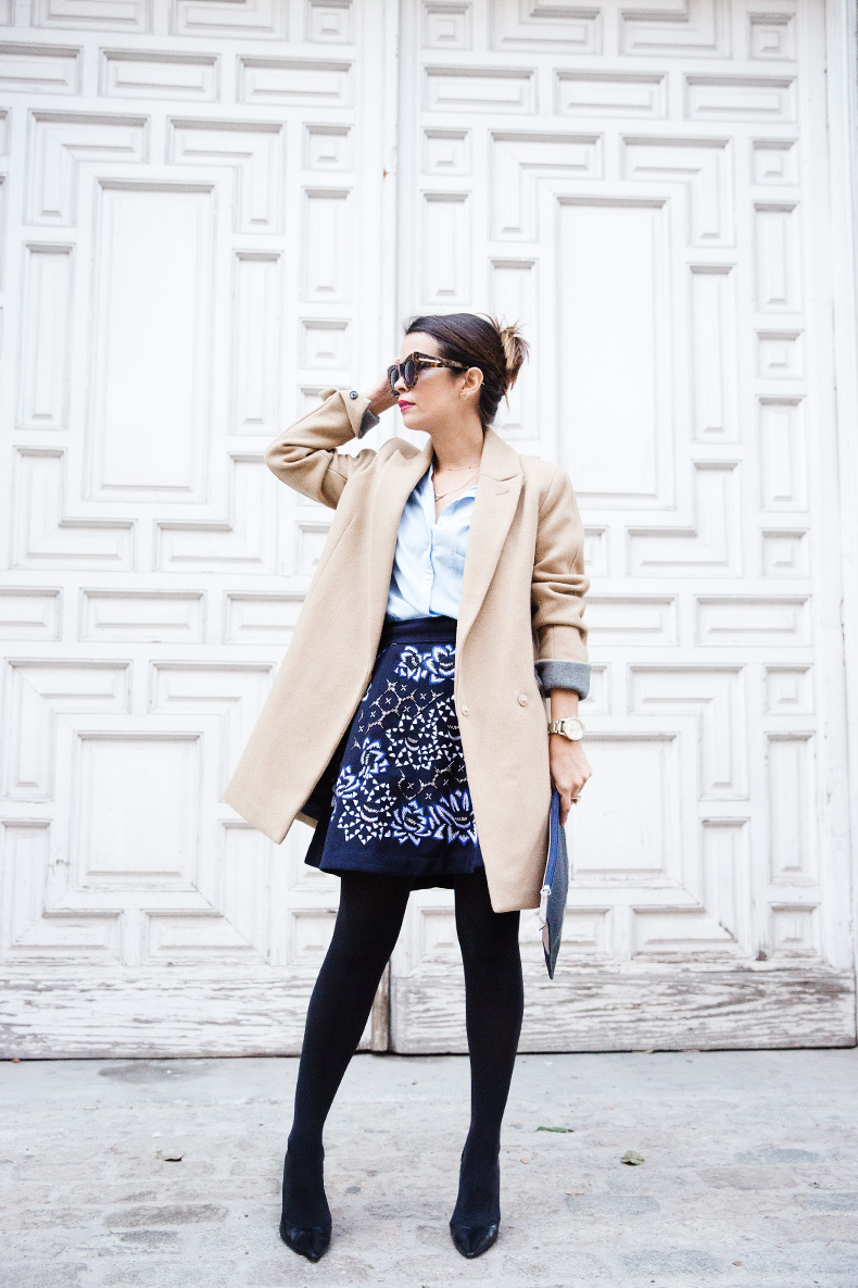 AnhHa-Embroidered_Skirt-Camel_Coat-Blue_Shirt-Outfit-Street_Style-30