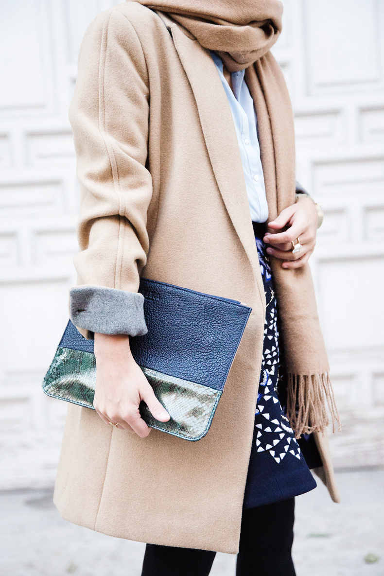 AnhHa-Embroidered_Skirt-Camel_Coat-Blue_Shirt-Outfit-Street_Style-6