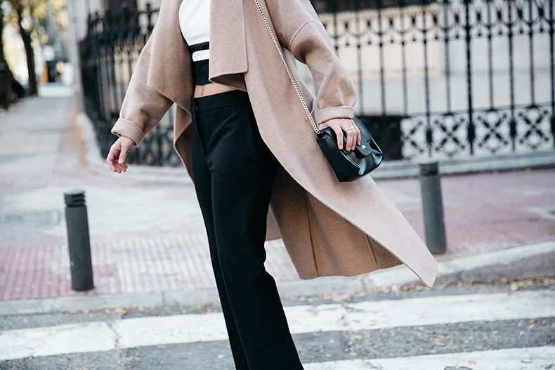 Bardot_Top-Stripes-Purificacion_Garcia_Trousers-Camel_Coat-Outfit-Street_Style-Collage_Vintage-