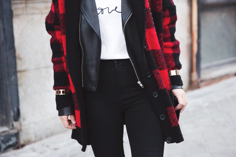 Checked_Cardigan-Black_And_Red-Balenciaga_Boots-Outfit-Rebecca_Minkoff-Quilted_Bag-Street_style-67