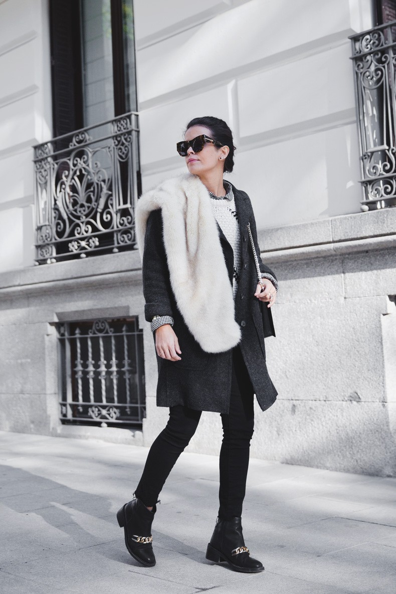Faux_Fur_Scarf-Miandco_Coat-Plaid_Shirt-Layers-Chained_Boots-Outfits-Street_Style-French_Braid-21