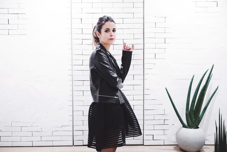 Maje_Evening_Capsule-Outfit-Drapped_Dress-Biker_Jacket-Collage_Vintage-Night_Look-112
