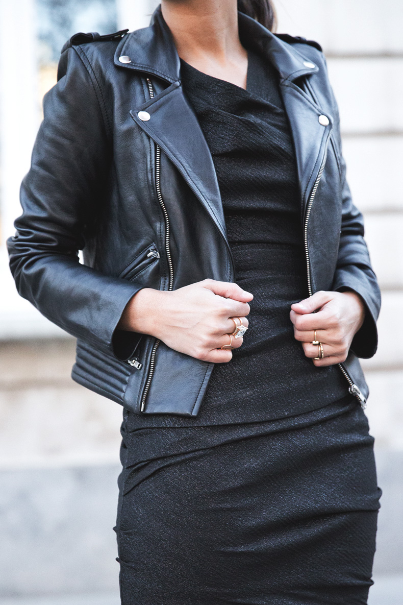 Maje_Evening_Capsule-Outfit-Drapped_Dress-Biker_Jacket-Collage_Vintage-Night_Look-40