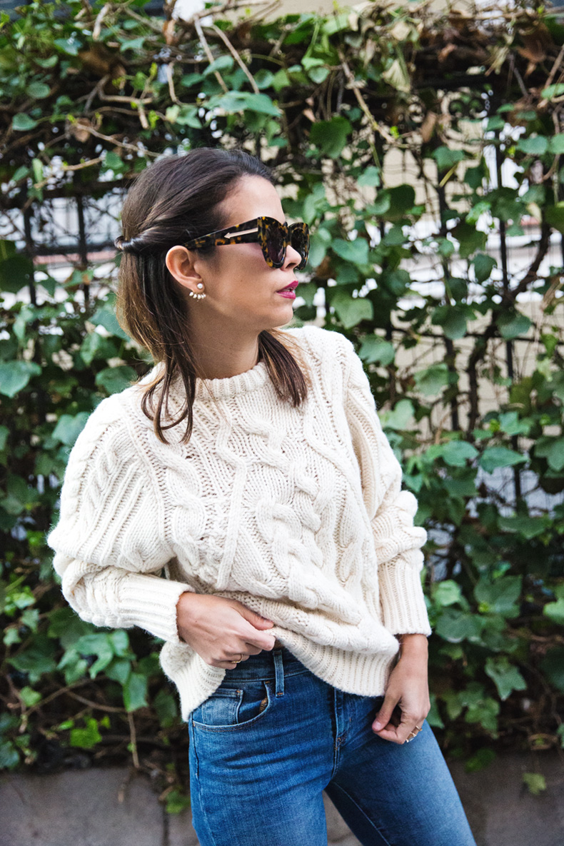 White_Coat-Knitted_Jumper-Maje-Ripped_Jeans-Outfit-Street_Style-27