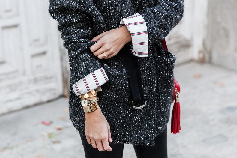 Belted_Jacket-Leather_Trousers-Striped_Shirt-Outfit-Street_Style-Collage_Vintage-30
