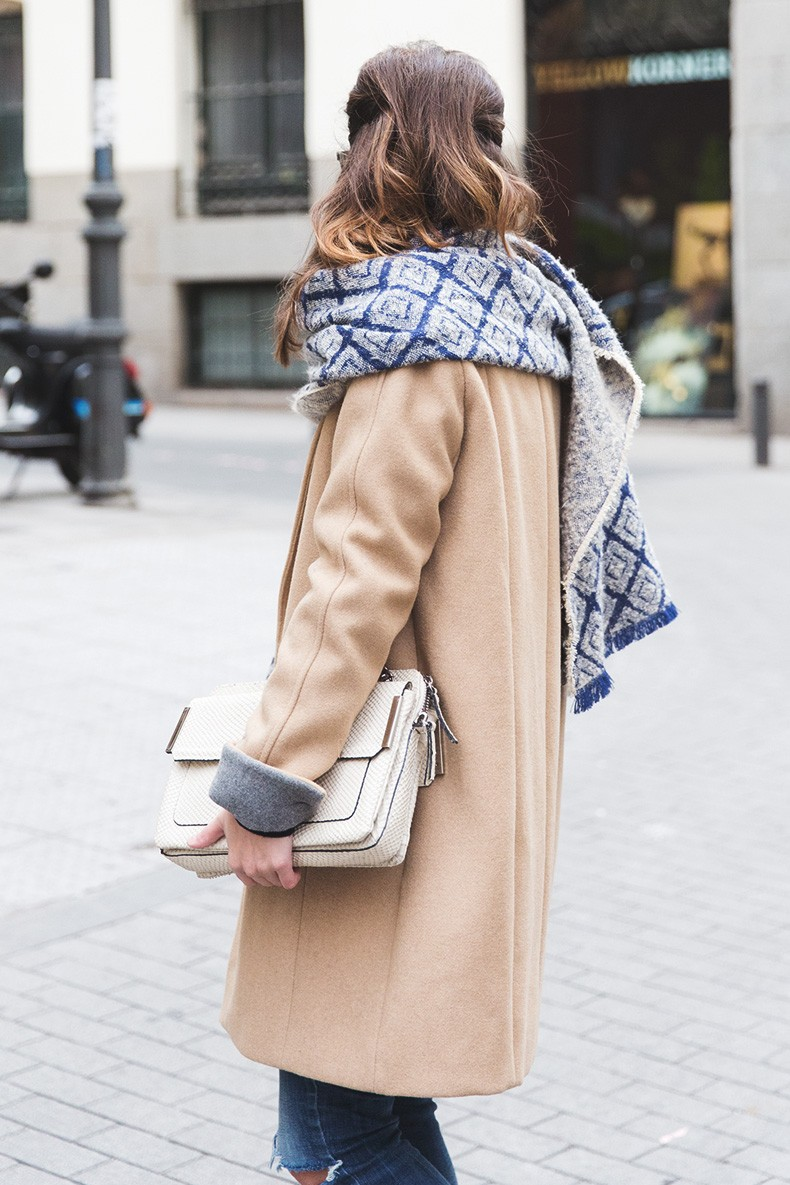 Camel_Coat-Blue_Sweater_Plaid_Shirt-Maxi_Scarf-Outfit-Blue_Boots-Outfit-Street_Style-Collage_Vintage-