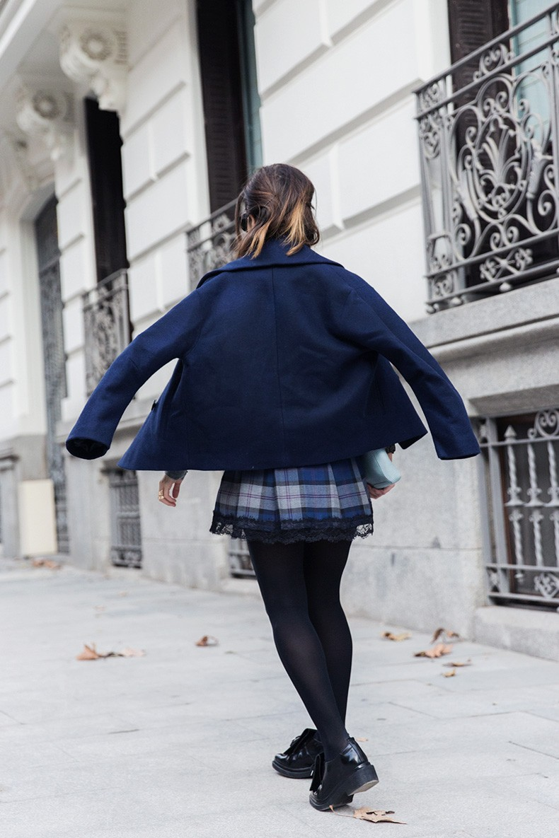 Checked_Skirt-Cashmere_Sweater-Navy_Jacket-Loafers-Outfit-Street_Style-Collage_Vintage-13