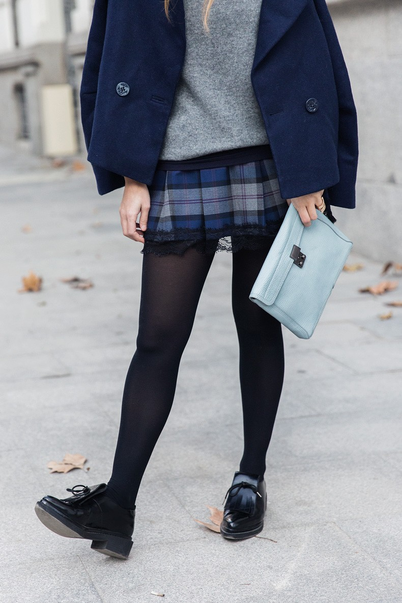Checked_Skirt-Cashmere_Sweater-Navy_Jacket-Loafers-Outfit-Street_Style-Collage_Vintage-18