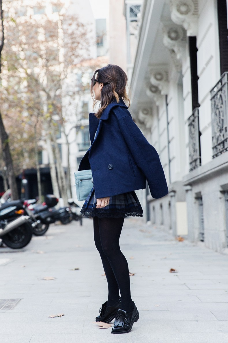 Checked_Skirt-Cashmere_Sweater-Navy_Jacket-Loafers-Outfit-Street_Style-Collage_Vintage-20